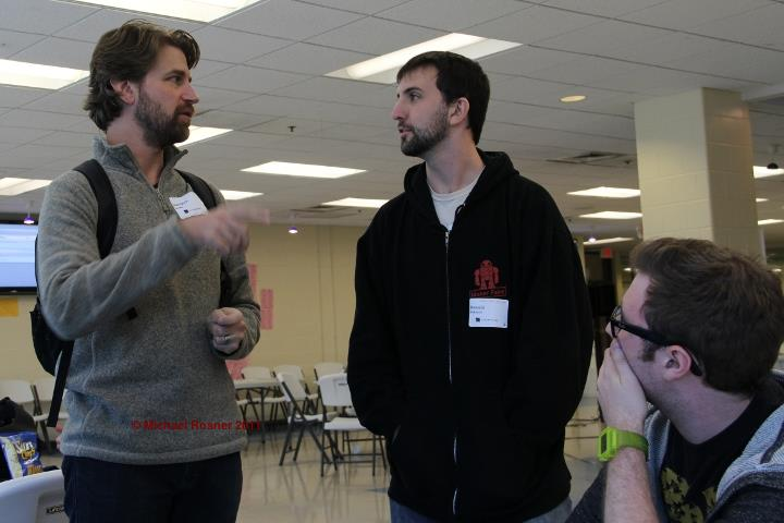 Jonathan and Donald discuss the Digital Harbor app as Ronin looks on